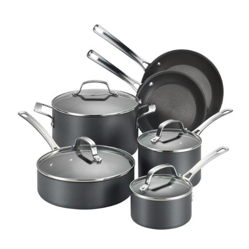 Circulon 83591 Genesis Hard-Anodized 10-Piece Cookware Set
