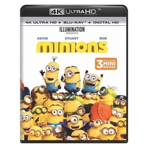Minions (blu-ray/4kuhd/ultraviolet/digital hd) (2discs)