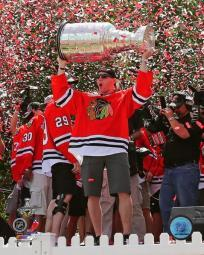 Patrick Kane with the Stanley Cup during the Blackhawks Victory Parade Photo Print PFSAAQA11901