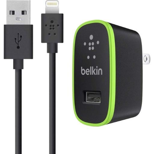 Belkin Components F8J052Tt04-Blk Home Charger With Lightning Cable For Ipad (10 Watt/2.1 Amp)