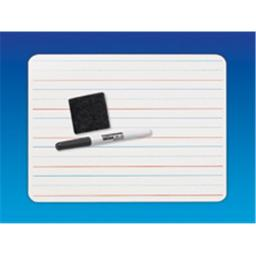 Flipside 12234 Red and Blue Ruled-Dry Erase Plus Pen Plus Eraser - Case of 12