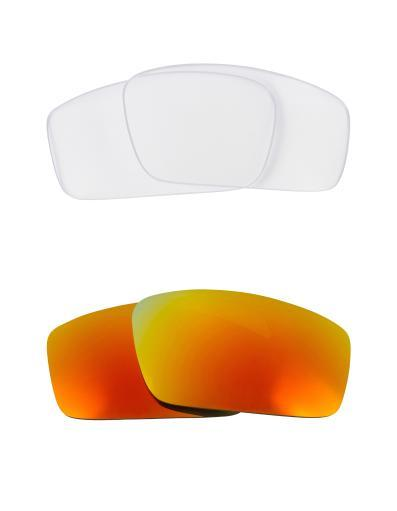 Best SEEK Replacement Lenses for Oakley SQUARE WIRE (2006) Clear Yellow Mirror