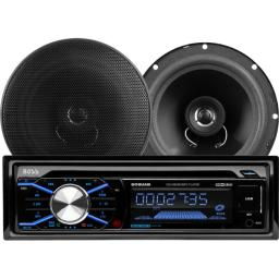 Boss audio car stereo package, am/fm/mp3/cd/sd