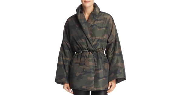 Divine Heritage Womens Camoflage Cold Weather Puffer Coat