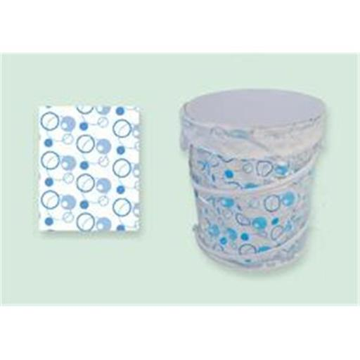 Sassy Sacks for Trash SS1003 - 3 blue Designer trash can liners with additional uses - Pack of 6
