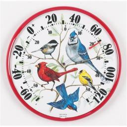 Accurite ACCURITE01581 Designer Edition 12 .50 inch In-Outdoor Songbirds Thermometer