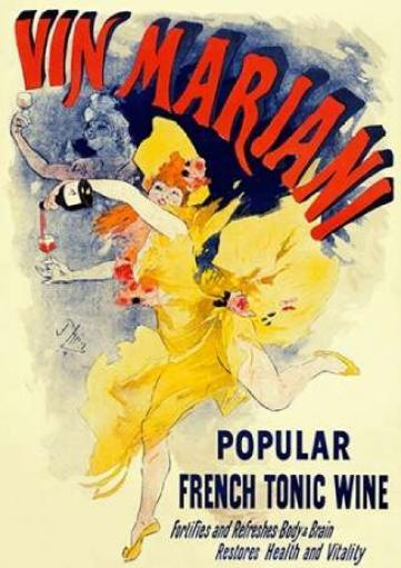 Vin Mariani/Popular French Tonic Wine Poster Print by Jules Cheret