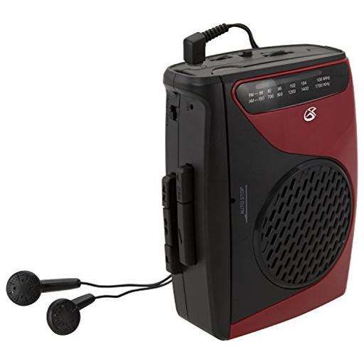 Dpi/gpx-personal & portable cas337b cassette player am/fm radio w/