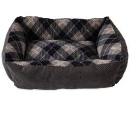 Aspen Pet Multicolored Plaid Micro Suede/Polyester Pet Bed 6 in. H x 20 in. W x 15 in. L - Case Of: 15;