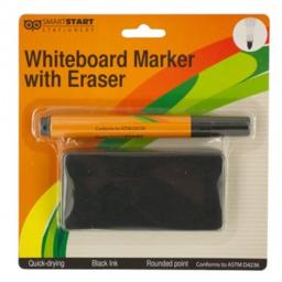 Bulk Buys HW667-24 Whiteboard Marker & Eraser Set - 24 Piece