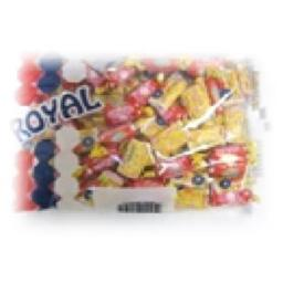 Royal Candy Bubble Gum Lollipops, Case of Six 7 Oz. Bags