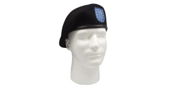 Rothco Inspection Ready Beret With Flash, Military Hat, Black - MassGenie