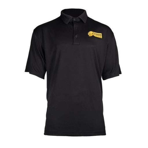 Voodoo Tactical Logo Embroidered Men's Performance Polo Shirt, Black