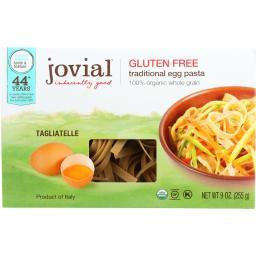 Jovial Pasta - Organic - Brown Rice - Traditional Egg Tagliatelle - 9 oz - case of 12