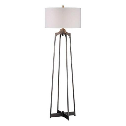 Uttermost 28131 Adrian Modern Floor Lamp - Steel & Fabric