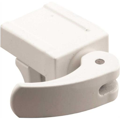 Prime-Line Products 10 6126 Vinyl Window Lock White Die Cast 2 Per Pack