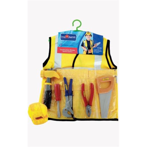 Dress Up America 705 Construction Worker Role Play Dress Up Set - Ages 3-7
