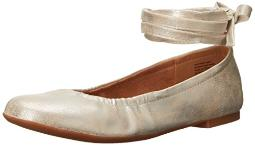 BC Footwear Women's Have a Heart Ballet Flat, Silver, 7.5 M US