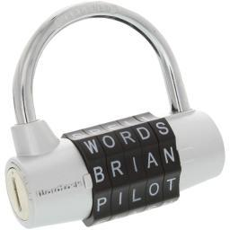 Wordlock(r) pl-003-sl 5-dial combination padlock (silver)