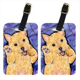 Carolines Treasures SS8911BT Norwich Terrier Luggage Tag - Pair 2, 4 x 2.75 In.