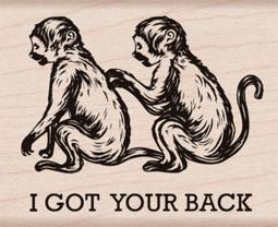 """Hero Arts Mounted Rubber Stamp 2.5""""X2""""-I Got Your Back HA-G6242"""