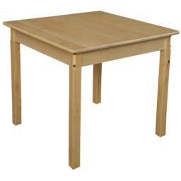 Wood Designs 83326 30 in. Square Hardwood Table With 26 in. Legs