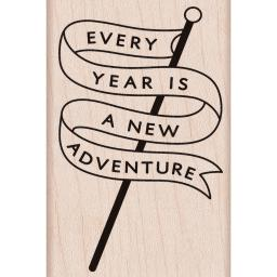 Hero Arts Mounted Rubber Stamp-Adventure Banner HA-H6165