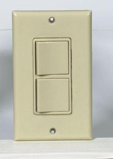 Leviton C21-05679-00i Dual Decora Rocker Switches With Wall Plate, 15amp