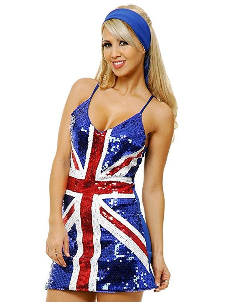 British Flag Sexy Sequin Dress