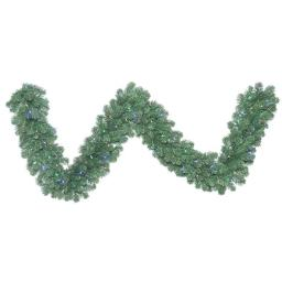Vickerman C164713LED Oregon Fir Wide Angle Garland with Multi-Colored LED Lights, 9 ft. x 14 in.