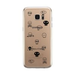 Skull Pattern Clear Phone Case