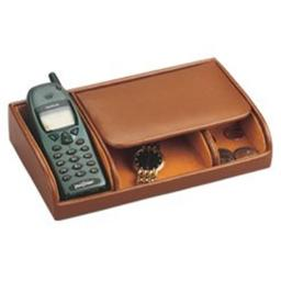 Budd Leather 540118-2 Small Dresser Valet - Brown