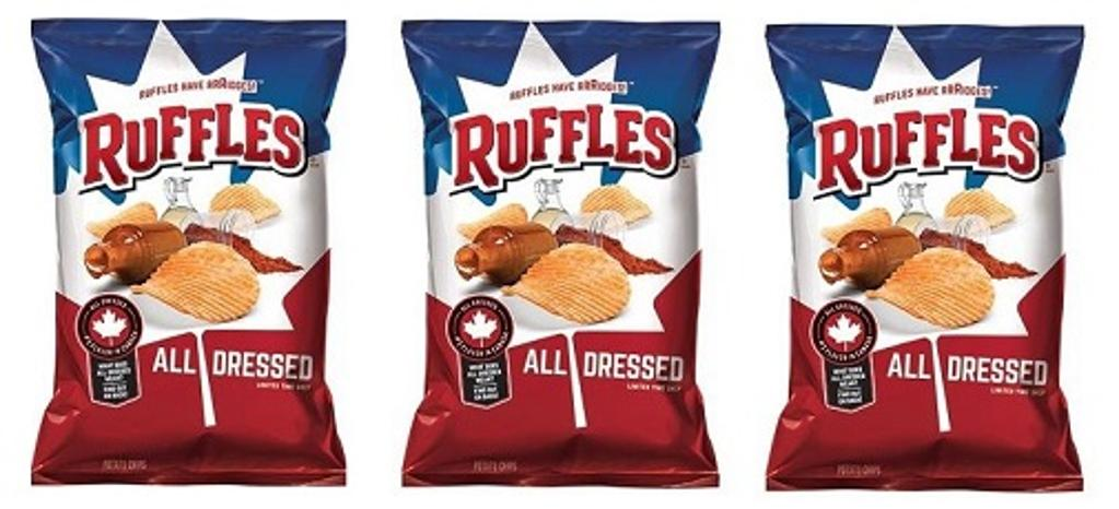 Ruffles All Dressed Potato Chips 3 Bags