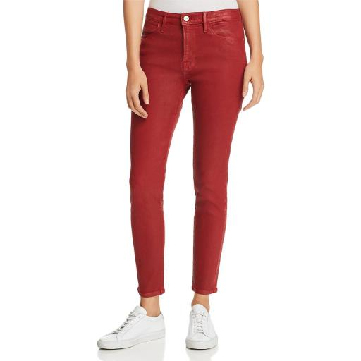 Frame Womens Le High Coated Ankle Skinny Jeans