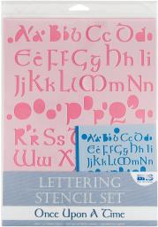 Lettering Stencil 4pc Sets-once Upon A Time
