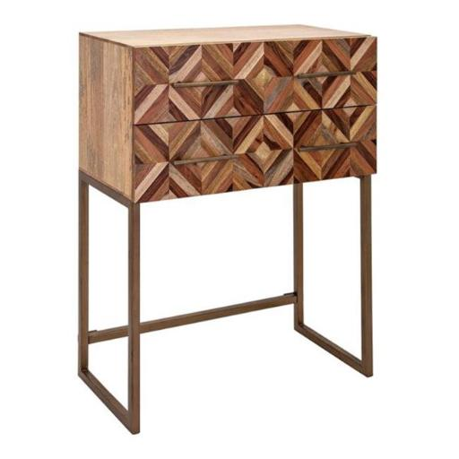 Imax 17095 Shiloh Wood Side Table, Brown