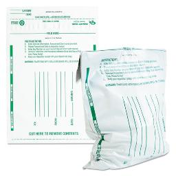 Poly Night Deposit Bags W/Tear-Off Receipt 10 X 13 Opaque 100 Bags Per Pack   1 Pack of: 100