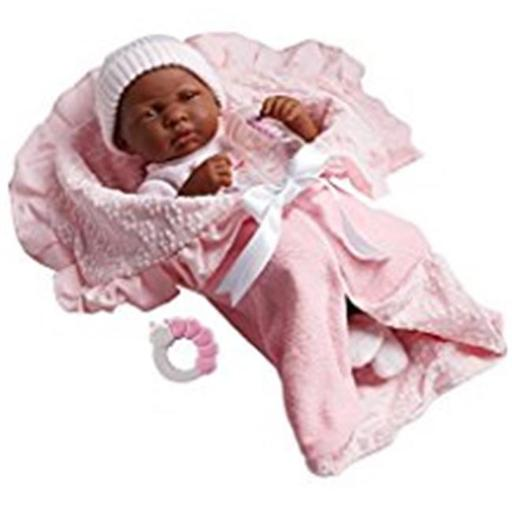 La Newborn 18783 African & American Soft Body Baby Doll Bunting & Accessories