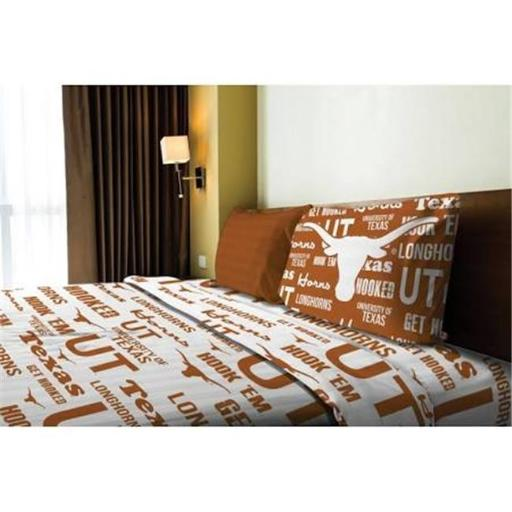 Northwest 1COL-82001-0036-RET NCAA - Texas Longhorns Anthem Twin Bed Sheet Set