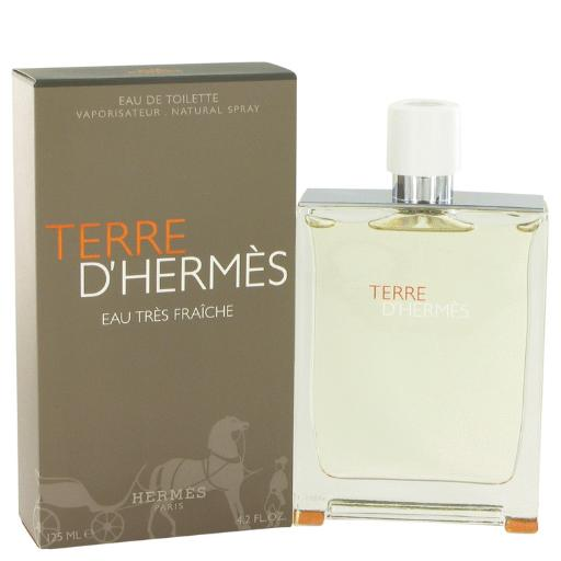 Terre D'Hermes by Hermes Eau Tres Fraiche Eau De Toilette Spray 4.2 oz for Men (Package of 2) Hermes Terre D'Hermes harkens to the scent of a natural man living in splendor. This elegant fragrance debuted on the market in 2006 and quickly defined itself as a leading industry standard. We are pleased to sell Hermes Terre d'Hermes products, including Terre d'Hermes cologne.