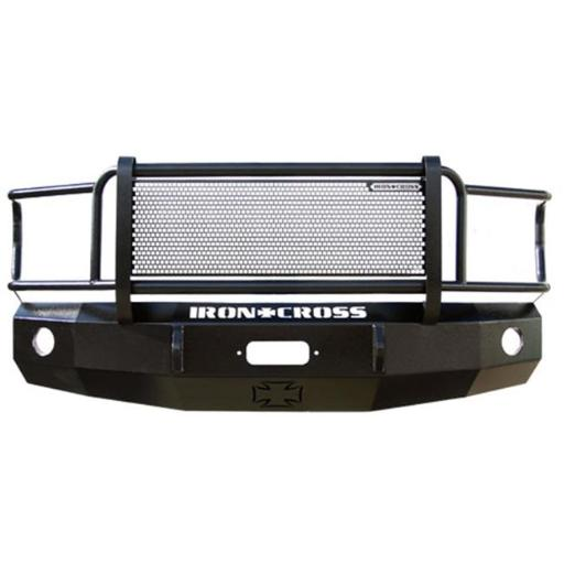 Iron Cross IRO24-415-15 2015 - 2016 F150 Heavy Duty Series Full Width Front Winch HD Bumper with Grille Guard, Black