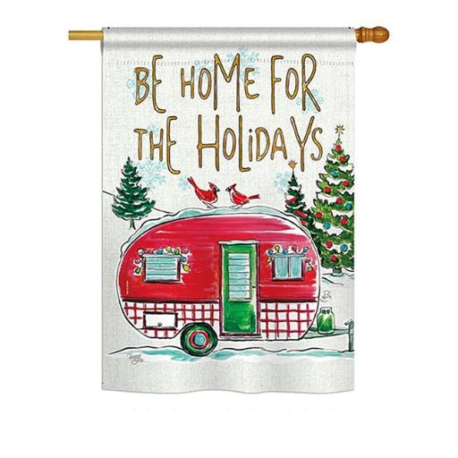 Breeze Decor BD-XM-H-114201-IP-BO-DS02-US Home for Holidays Winter - Seasonal Christmas Impressions Decorative Vertical House Flag - 28 x 40 in.