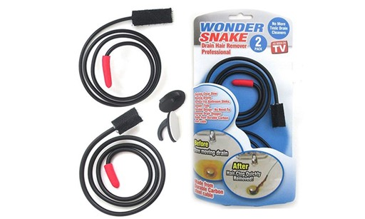 Premium New 2-Pack Wonder Snake Clogged Drain Hair Remover 8D21F1C969CA6EAA