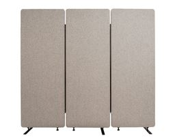 Luxor 3 Pack Reclaim Acoustic Room Dividers -  Misty Gray