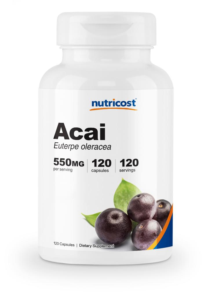 Nutricost Acai Capsules 550mg Per Serving (120 Veggie Capsules)- Contains Anti-Oxidants