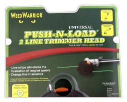 Sports Team Logo Weed Warrior Universal Push-N-Load 2 Line Trimmer Head