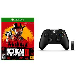Xbox One Red Dead Redemption 2 and Wireless Controller with Wireless Adapter