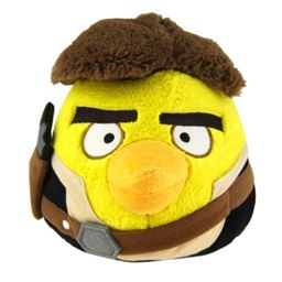 Angry Birds Star Wars Plush Bird Han Solo, 8 Inch