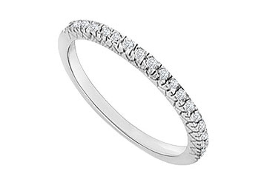 14K White Gold Diamond Wedding Band 0.25 CT TDW