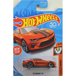 Hot Wheels 2018 50th Anniversary Muscle Mania '18 Camaro SS 50/365, Orange